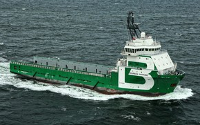 Picture The ocean, Sea, The ship, PSV, Offshore, Offshore Supply Ship, Supply Ship, M/V Bourbon Sapphire, ...