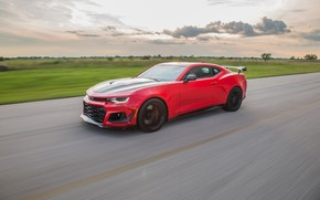 Picture speed, Chevrolet, Camaro, Hennessey, ZL1, 2017, HPE850
