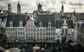 Picture building, Belgium, architecture, Ghent