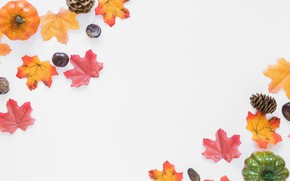 Picture autumn, leaves, background, Board, colorful, pumpkin, maple, wood, background, autumn, leaves, autumn, pumpkin, maple