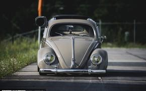 Picture Volkswagen, Retro, Volkswagen Beetle, Beethoven, Bug, 1957 Year