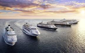 Picture The ocean, Sea, Liner, The ship, Technique, Navy, Passenger ship, Passenger liner, Ship, Vessel, Cruise …