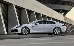 Picture white, Porsche, Panamera, 2021, Panamera 4S E-Hybrid
