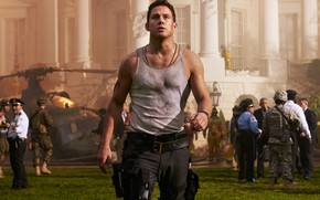 Picture look, pose, figure, Channing Tatum, Channing Tatum, White House Down, The storming of the White …