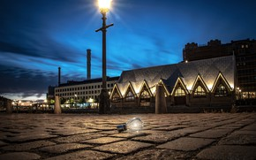 Picture light bulb, the city, lights, the evening, Gothenburg
