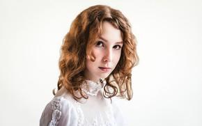 Picture portrait, freckles, sponge, curls, Denis Yakovlev