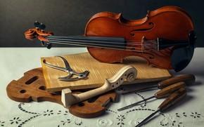Wallpaper music, violin, instrumento