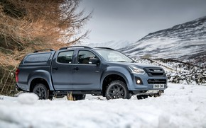 Picture winter, snow, pickup, 2018, Isuzu, Huntsman, D-Max, UK version