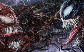 Picture Figure, Language, The city, Rain, Teeth, Fangs, Art, Marvel, Marvel Comics, Illustration, MARVEL, The shower, ...