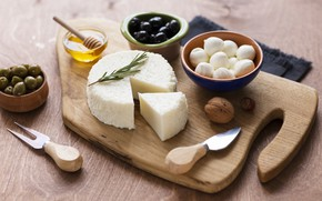 Picture cheese, nuts, honey, olives, olives, rosemary, Dor blue, Cheese, mozzarella, cheese, Dorblu