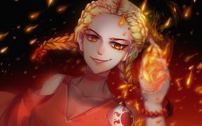 Picture girl, fire, magic, evil, fantsy, mariam246810