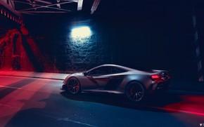 Picture McLaren, Night, Machine, Car, Render, Supercar, Lighting, Rendering, Sports car, 675LT, McLaren 675LT, Grey, Transport …