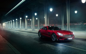 Picture road, transport, lights, car, Mercedes AMG - GT S