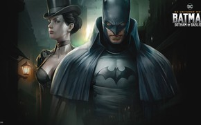 Picture street, woman, lights, Batman, Batman, woman, lady, lady, DC Universe Movie, Batman: Gotham by gas ...