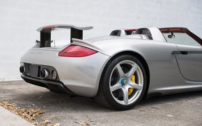 Picture Wheel, Supercar, Porsche Carrera GT, Back, Tail Lights