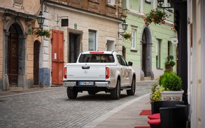 Picture white, street, Mercedes-Benz, home, the sidewalk, pickup, 2018, X-Class