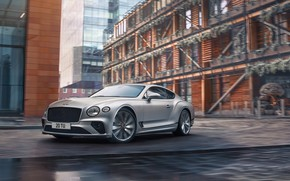 Picture the city, speed, Bentley, Continental, Bentley Continental GT, GT Speed, 2022