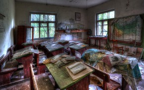 Picture class, Board, desks