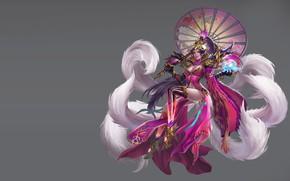 Picture the game, fantasy, art, costume, kitsune, costume design, LIU Mingxing
