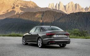 Picture mountains, Audi, sedan, ass, Audi A4, 2019