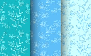 Picture background, blue, pattern, twigs, seamless