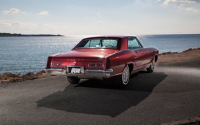 Picture Red, Car, Riviera, Buick, Luxury, Lake