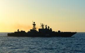 Picture sea, the evening, Admiral Chabanenko