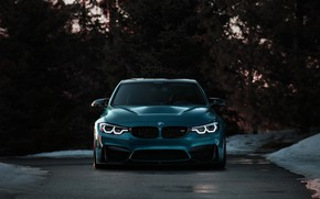 Picture BMW, Light, Blue, Winter, Front, F80, Sight, Adaptive LED