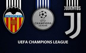 Picture wallpaper, sport, logo, football, Valencia, Juventus, UEFA Champions League, Valencia vs Juventus