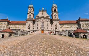 Picture the city, Switzerland, the monastery, Einsiedeln