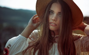 Picture look, girl, face, hair, portrait, hat, kassio. epia