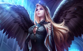 Picture Girl, Angel, Wings, Art, Fiction, Beautiful, Illustration, Concept Art, Characters, Legend of the Cryptids, Lisa …