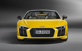 Picture Audi R8, front view, Spyder, V10, 2016