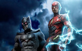 Picture lightning, guy, heroes, Batman