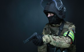 Picture weapons, Army, Machine, Defender, Special forces, SPC, FSB, The Archangel, ROSN, AK103, LSS-2ДТМ, Helikon-Tex, SK …