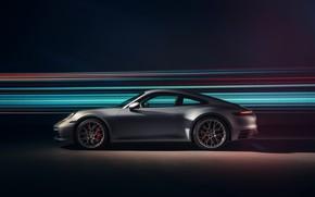 Picture 911, Porsche, side view, Carrera 4S, 2019