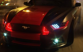 Picture lights, mustang, drift, ford