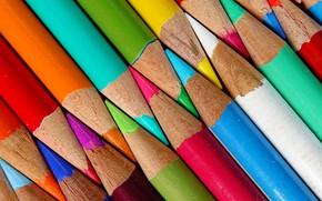 Picture macro, colored, pencils