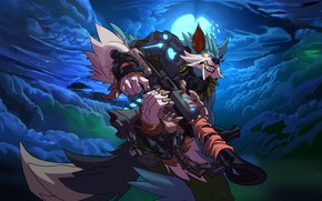 Picture weapons, the game, wolf, gun, Paladins