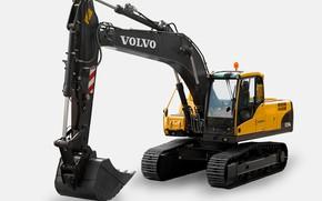 Picture Volvo, white background, excavator, EC235C NL