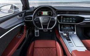 Picture Audi, TDI, salon, Sportback, Audi S7, 2019