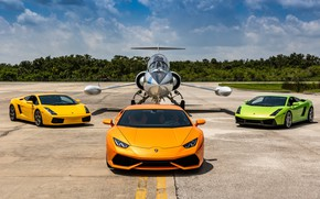 Picture Lamborghini, Gallardo, Airplane, Huracan