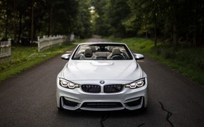 Wallpaper BMW, Lights, White, Convertible, Face, F83, Adaptive LED
