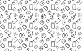 Picture world, minimal, white, dota, black, minimalism, photoshop, icon, illustrator, smartphone, monitor, illustration, wife, mail, power …