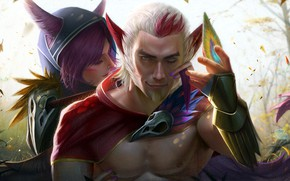 Picture the game, fantasy, creatures, two, characters, League of Legends, League Of Legends