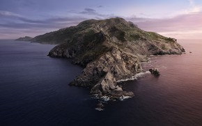 Picture Sunset, The ocean, Sea, The evening, Island, Morning, Dawn, Catalina, macOS, 10.15, 5K