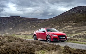 Picture red, Audi, RS, TT, 2019