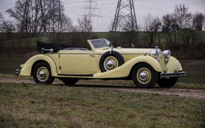 Picture old, retro, side, rarity, beige, Sport, Cabriolet, Horch, 853, 1935–37