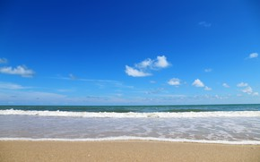 Picture sand, sea, wave, beach, summer, summer, beach, sea, blue, seascape, sand, wave
