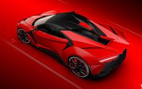 Wallpaper Red, Auto, Machine, Rendering, Concept Art, SuperSport, Fenyr, Transport & Vehicles, Benoit Fraylon, by Benoit ...